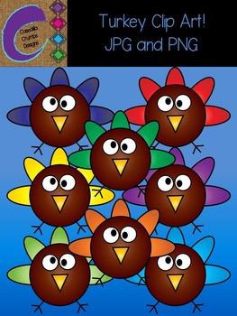 Rainbow Turkey Clip Art Color Images FREEBIE FREE