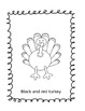 Rainbow Turkey Coloring Book