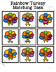 Rainbow Turkey Matching Folder Game for students with Autism