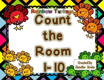 Rainbow Turkeys Count the Room 1-10