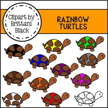Rainbow Turtles Clipart