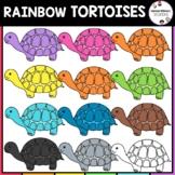 Rainbow Turtles Clipart | Zoo Animals Clipart