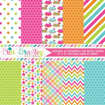 Rainbow Tutus Digital Paper Pack