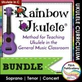 Ukulele Program - Rainbow Ukulele {BUNDLE} - Lessons, Pres