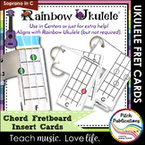 Rainbow Ukulele - Fretboard Chord Insert Charts for the ukulele