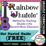Rainbow Ukulele - Starter Kit {FREEBIE} - Set up a ukulele program!