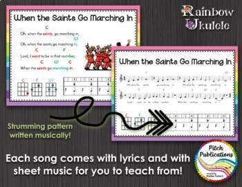 Rainbow Ukulele - Teacher Packet - Ukulele Curriculum Lesson Plans- Presentation