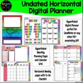 Rainbow Undated Horizontal Digital Planner