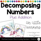 Rainbow Unicorn Decomposing Addition Activity