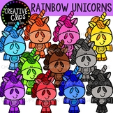 Rainbow Unicorn Littles {Creative Clips Clipart}