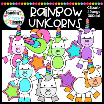 Rainbow Unicorns Clipart