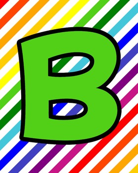 Rainbow Upper Case Alphabet Cards