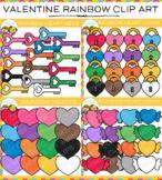Rainbow Valentine Clip Art Bundle