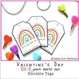 Rainbow Valentine's Day Tags | Boho Rainbow Gift Tags | Co