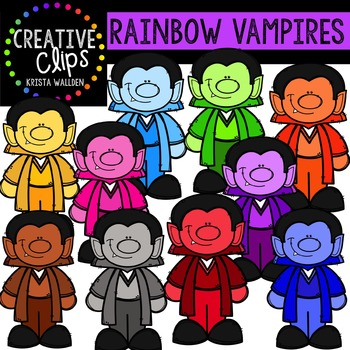 Rainbow Vampires {Creative Clips Digital Clipart}