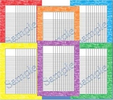 Rainbow Variety Water Color Incentive Chart/Grade Chart