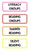 """Rainbow Visual Class Schedule Cards - """"Look What Is On Today"""""""