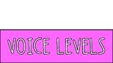 Rainbow Voice Level Posters