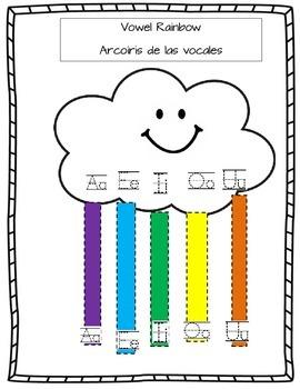 Rainbow Vowels/ Arcoiris de las vocales