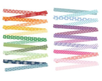 Rainbow Washi Tape, Rainbow Clipart, Washi Tape Set #218