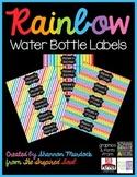 Rainbow Water Bottle Labels