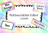 Rainbow Water Colour Labels