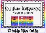Rainbow Watercolor Alphabet Posters