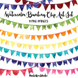 Rainbow Watercolor Bunting Clip Art