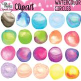 Rainbow Watercolor Circles Clipart