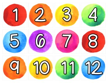 Rainbow Watercolor Classroom Calendar Set