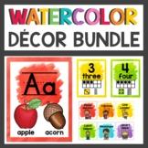 Rainbow Watercolor Decor Bundle