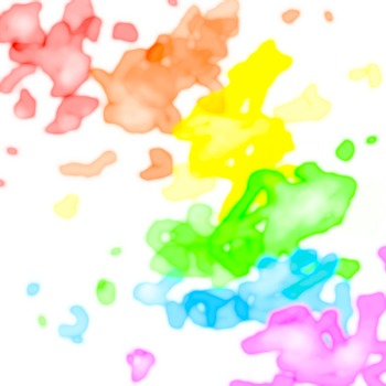 Watercolor Splatter Digital Paper: Rainbow Pattern