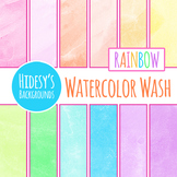 Rainbow Watercolor Washes in Lots of Colors Digital Papers / Backgrounds