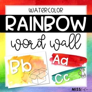 Rainbow Watercolor Word Wall Headers