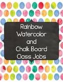 Rainbow Watercolor and Chalkboard Class Jobs