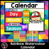 Rainbow Watercolour / Watercolor Class Calendar