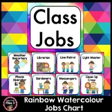 Rainbow Watercolour / Watercolor Jobs Chart Editable