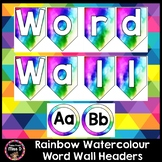 Rainbow Watercolour / Watercolor Word Wall Headers