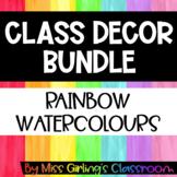Rainbow Watercolours Class Decor BUNDLE