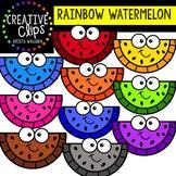 Rainbow Watermelon: Summer Clipart {Creative Clips Clipart}