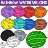 Rainbow Watermelons | Summer Clipart
