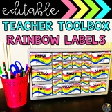 Rainbow Waves Teacher Toolbox Labels