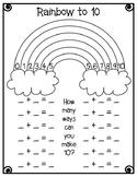Rainbow Ways to Make Ten (10)