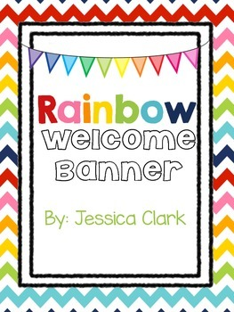Rainbow Welcome Banner