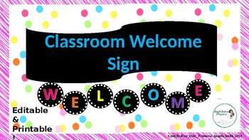 Rainbow Welcome Sign