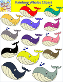 Rainbow Whale Clipart - 28 Graphics