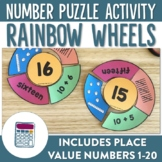 Rainbow Wheels Place Value Numbers 1-20 Puzzles