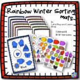 Rainbow Winter Sorting Mats