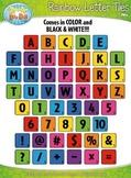 Rainbow Wood Alphabet Tiles Clipart {Zip-A-Dee-Doo-Dah Designs}