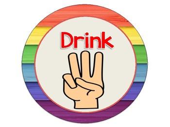 Rainbow Wood Theme Hand Signal Display